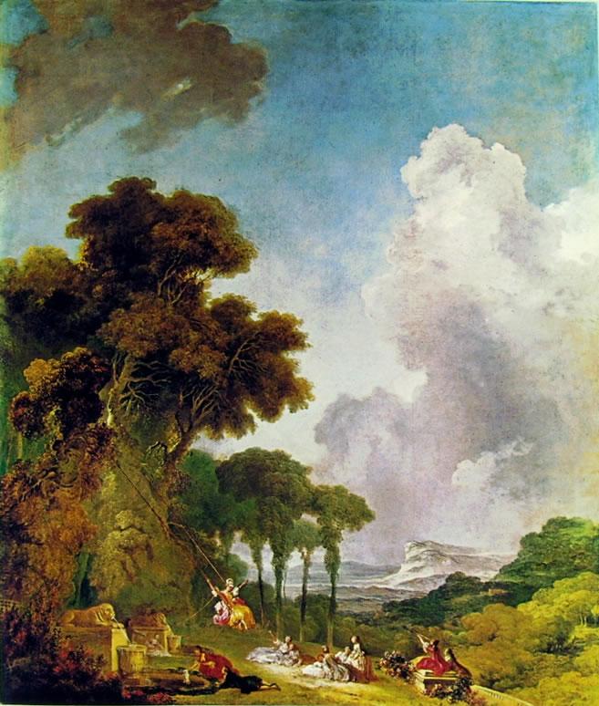 Jean-Honoré Fragonard: L'altalena (Washington)