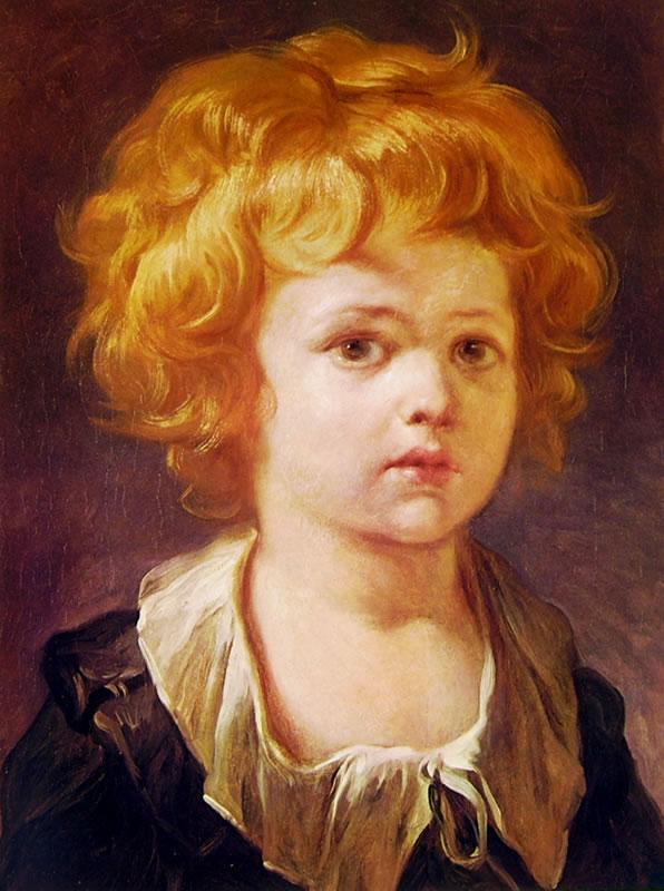 Jean-Honoré Fragonard: Bambino con collaretto