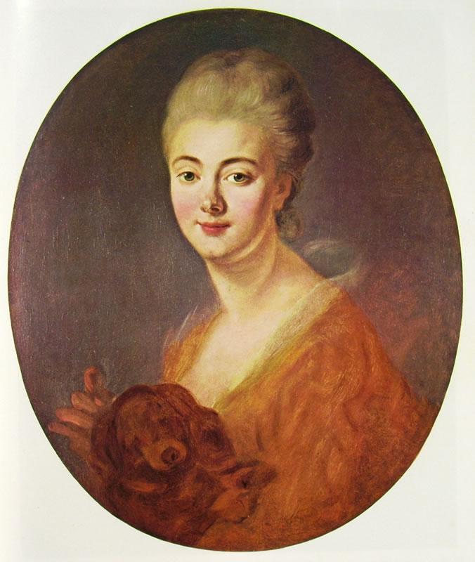 Jean-Honoré Fragonard: Ritratto di Constance de Lowendal, contessa de Turpin de Crisse
