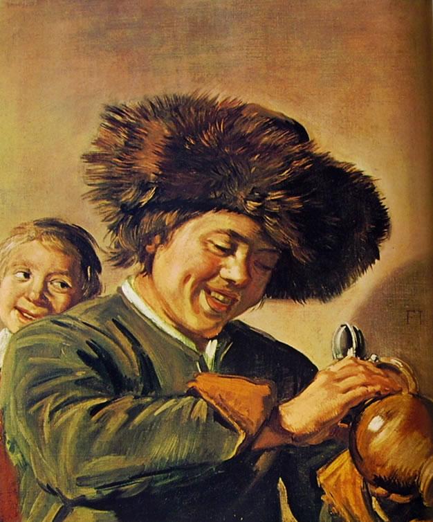 Frans Hals: Due ragazzi sorridenti con una brocca