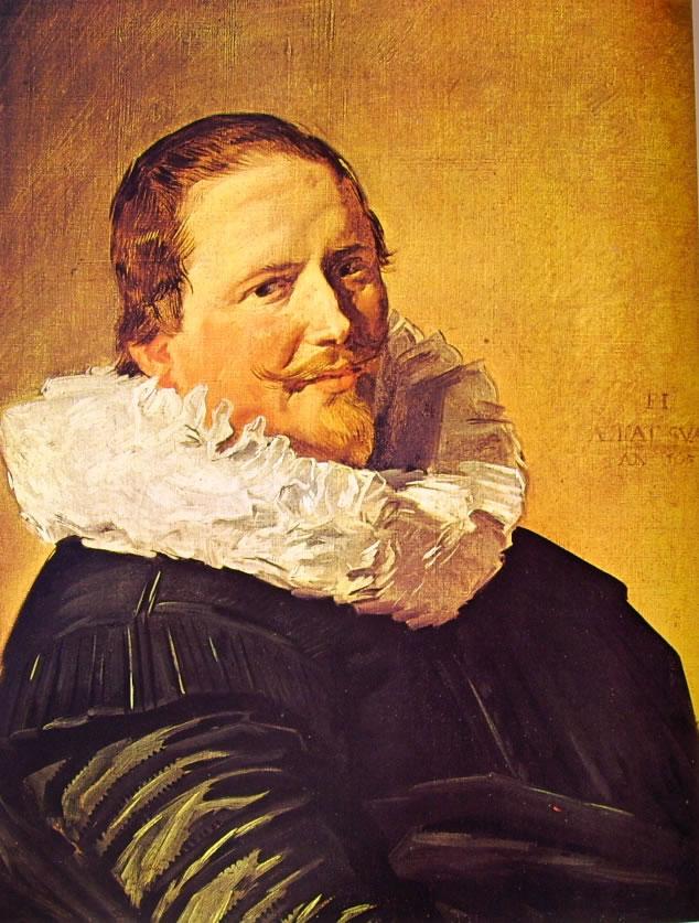 Frans Hals: Uomo trentatreenne con goletto pieghettato