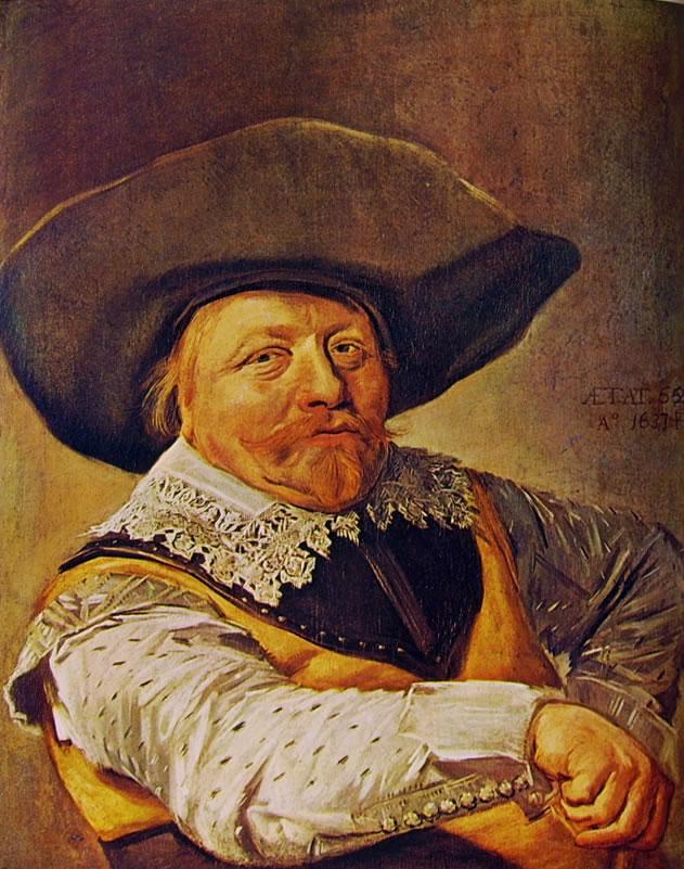 Frans Hals: Ufficiale seduto con la destra sul bracciolo
