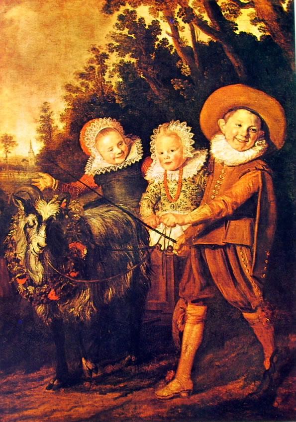 Frans Hals: Tre ragazzi con carretto tirato da una capra