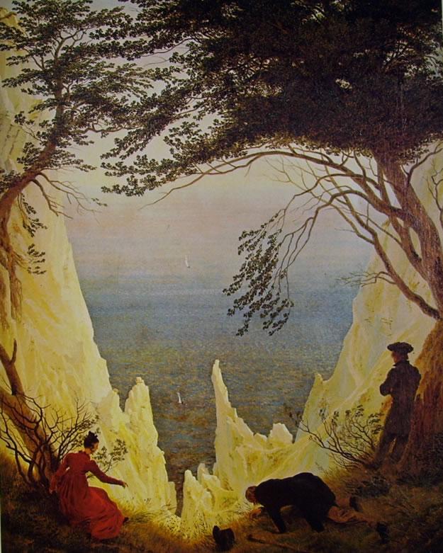 Caspar David Friedrich: Le bianche scogliere di Rugen