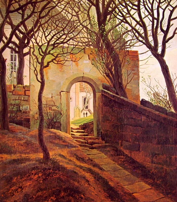 Caspar David Friedrich: Ingresso di cimitero ( Karlsuhe)