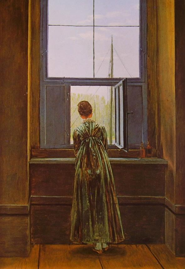 Donna alla finestra berlino di caspar david friedrich for Ragazza alla finestra quadro