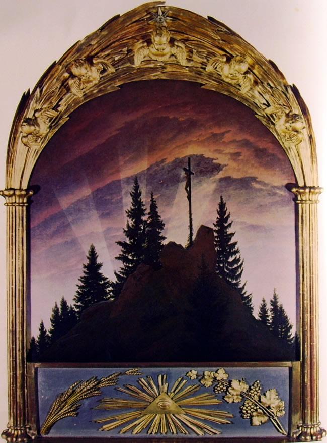 Caspar David Friedrich: Croce in montagna