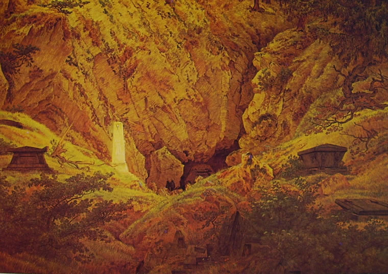 Caspar David Friedrich: Tombe di antichi eroi (Kunsthalle)