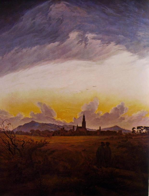 Caspar David Friedrich:Veduta di Neubrandenburg