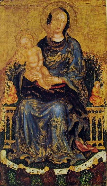 Gentile da Fabriano: Madonna con Bambino e angeli musicanti (Metropolitan Museum)
