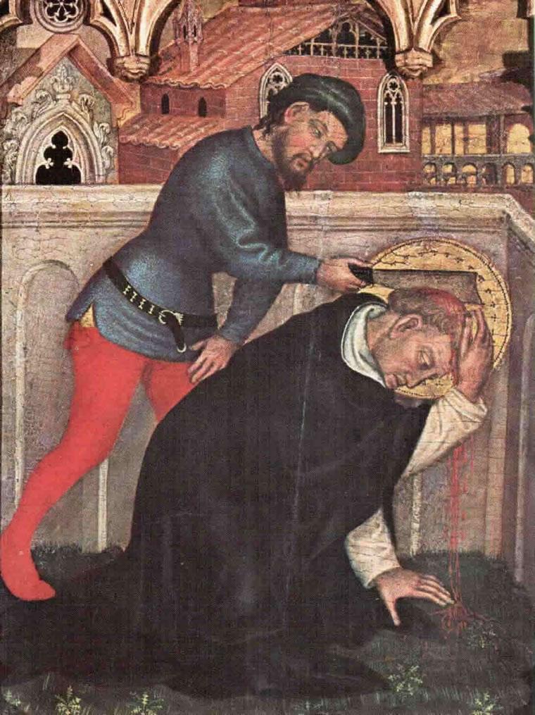 Gentile da Fabriano: Polittico di Valle Romita - Il martirio di S. Pietro