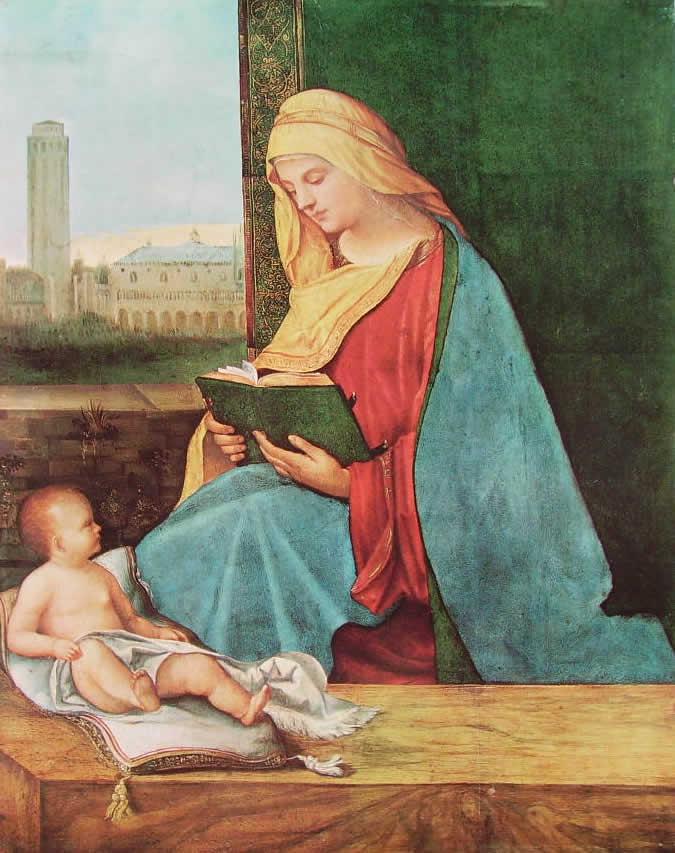 Giorgione: Madonna leggente (Oxford)