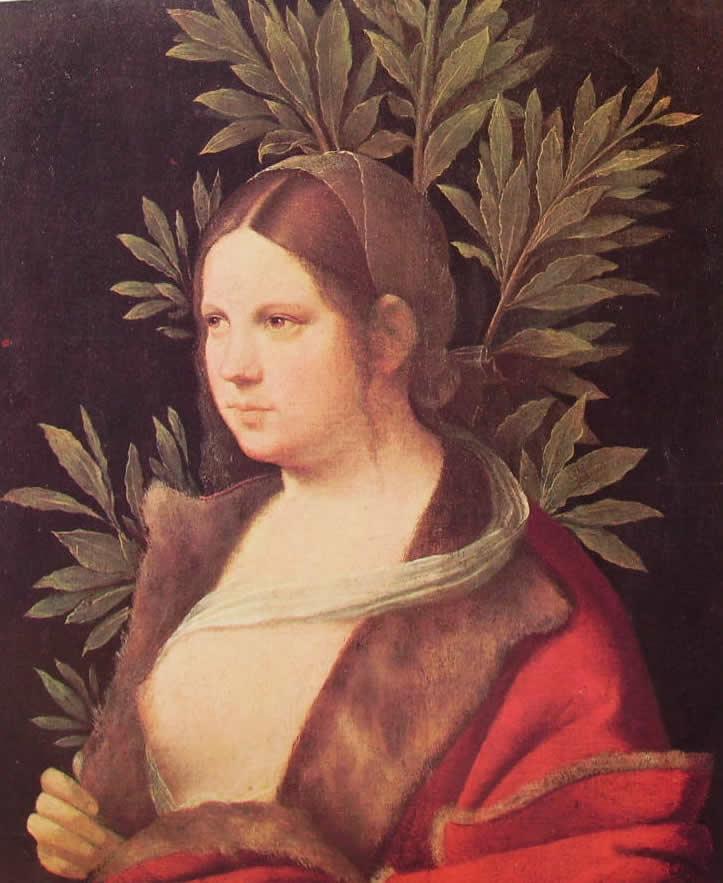 Giorgione: Ritratto di Laura (Vienna)