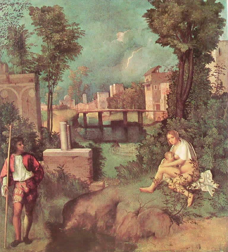 Giorgione: La tempesta (Gallerie dell'Accademia di Venezia)