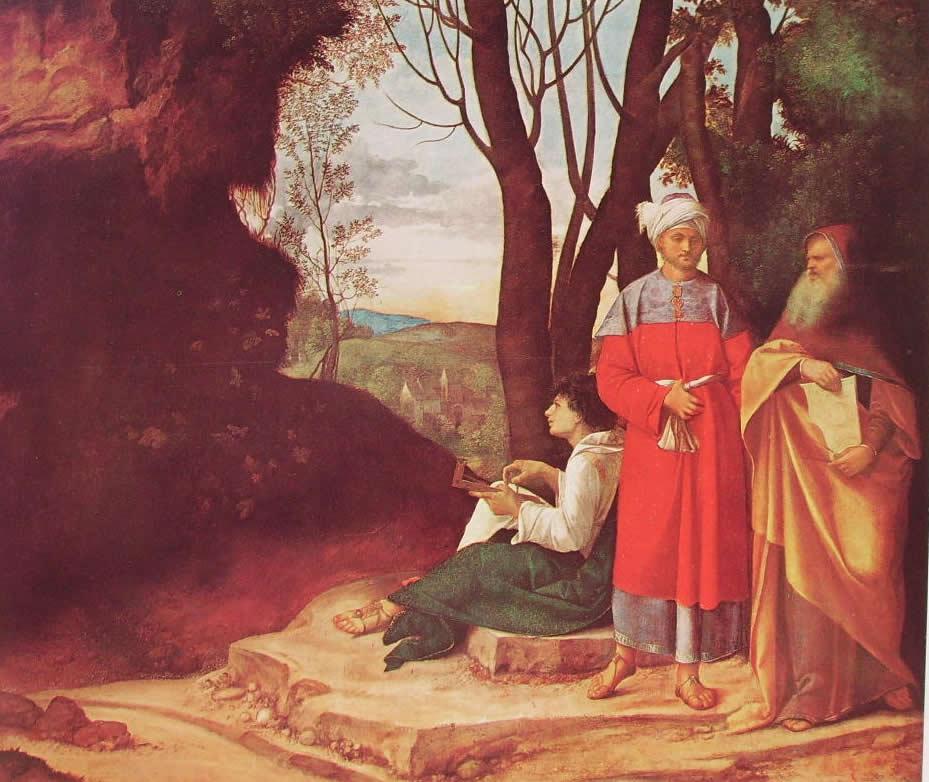 Giorgione: I tre filosofi (Vienna), cm. 144,5 Kunsthistorisches Museum, Vienna