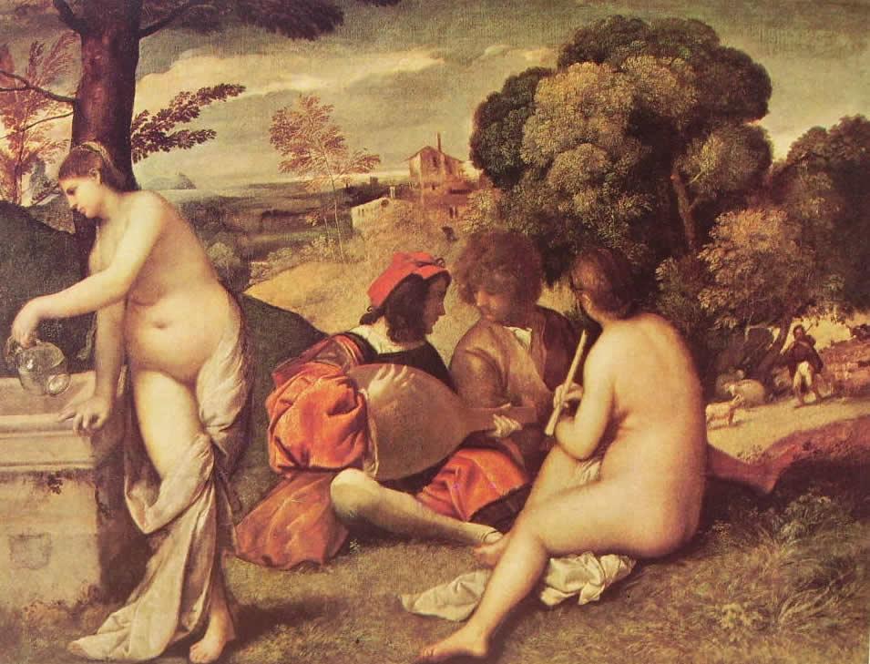 Concerto campestre, cm. 138, Louvre, Parigi.