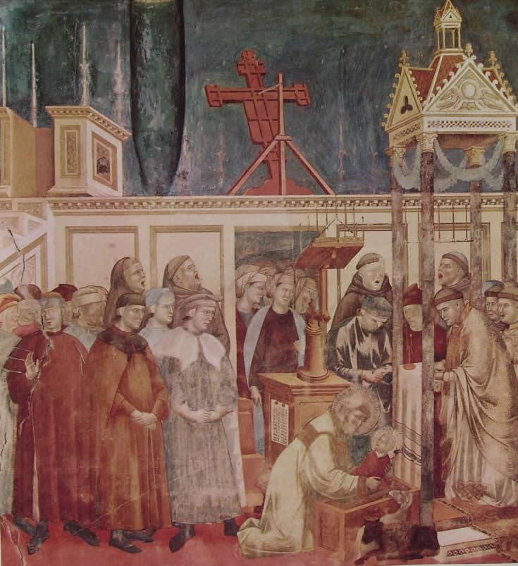 Giotto: Il presepe di Greccio (Assisi)