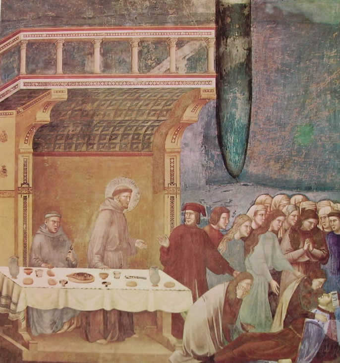 Giotto: La morte del cavaliere di Celano (Assisi)