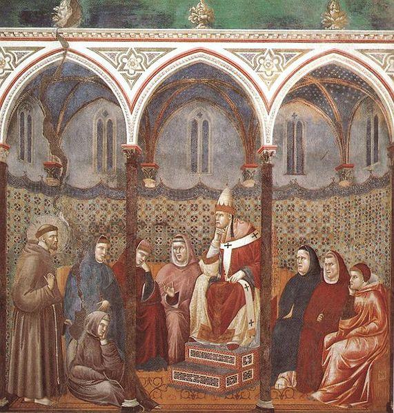 Giotto: La predica dinnanzi a Onorio (Assisi)