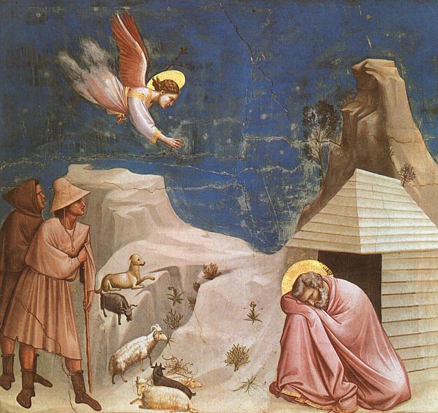 Giotto: Il sogno di Gioacchino (Scrovegni)