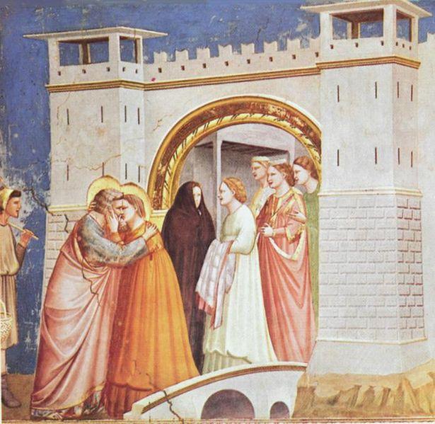 Giotto: Incontro alla porta aurea (Scrovegni)