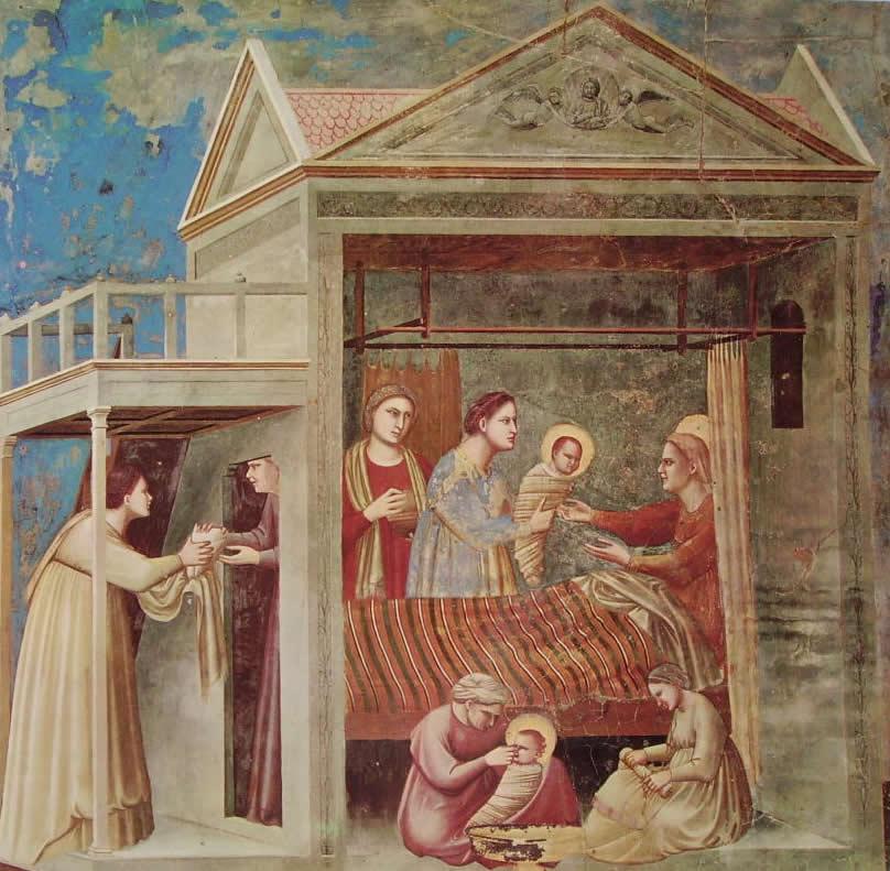 Giotto: La nascita della Madonna (Scrovegni)