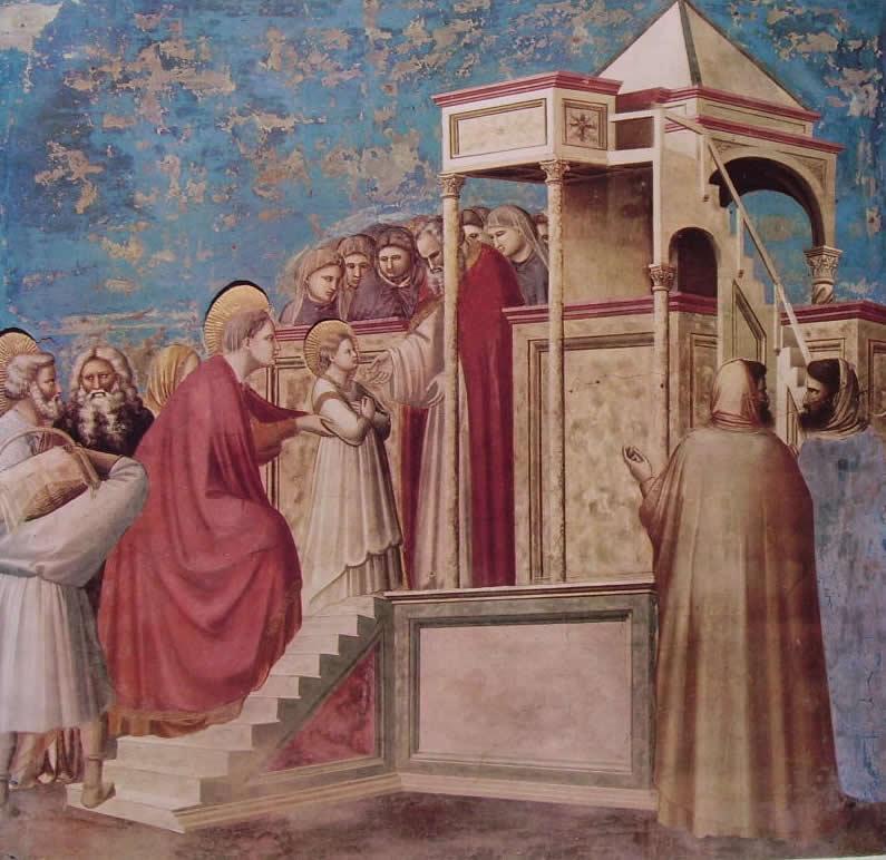 Giotto: La presentazione di Maria al Tempio (Scrovegni)