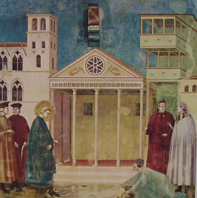 Giotto: L'omaggio di un semplice (Assisi)