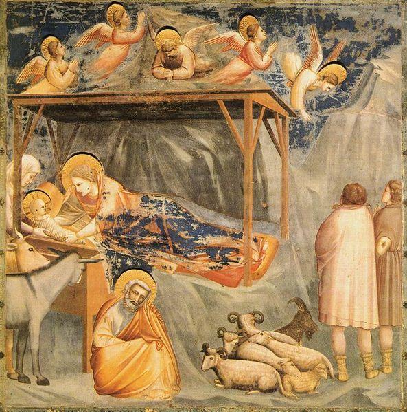 """Giotto: """"La Natività"""" e """"L'annuncio ai pastori"""""""