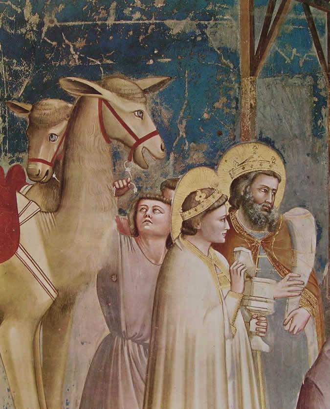 Giotto: Particolare dell'Epifania (Scrovegni)