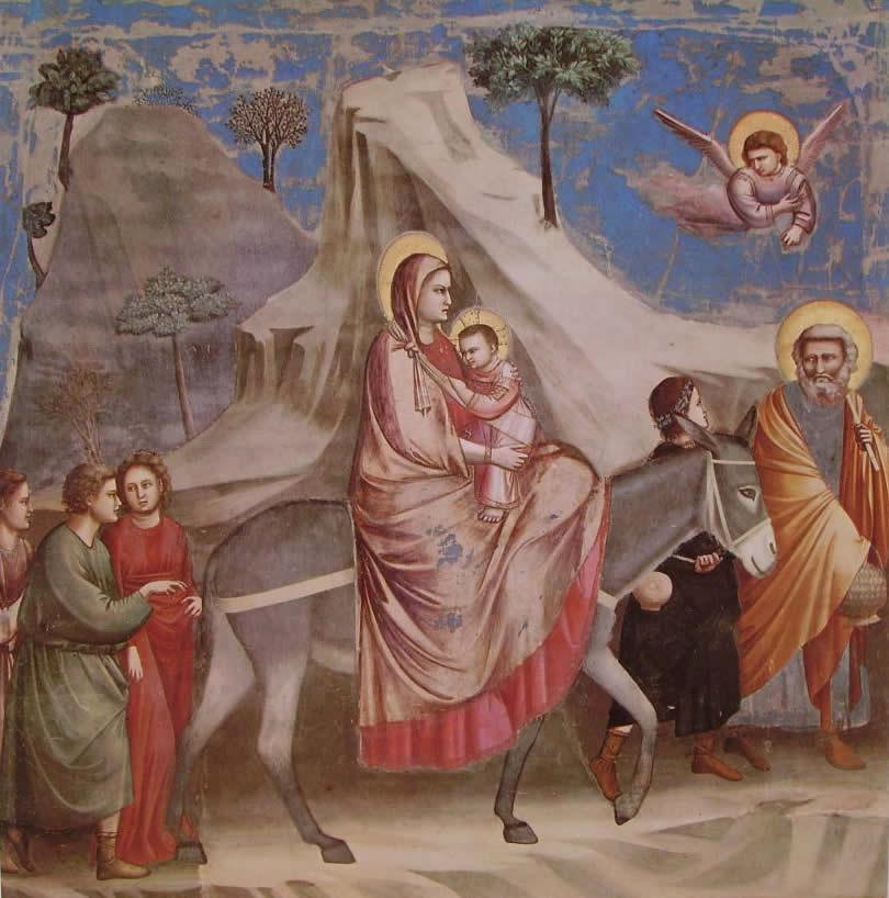 Giotto:La fuga in Egitto (Scrovegni)