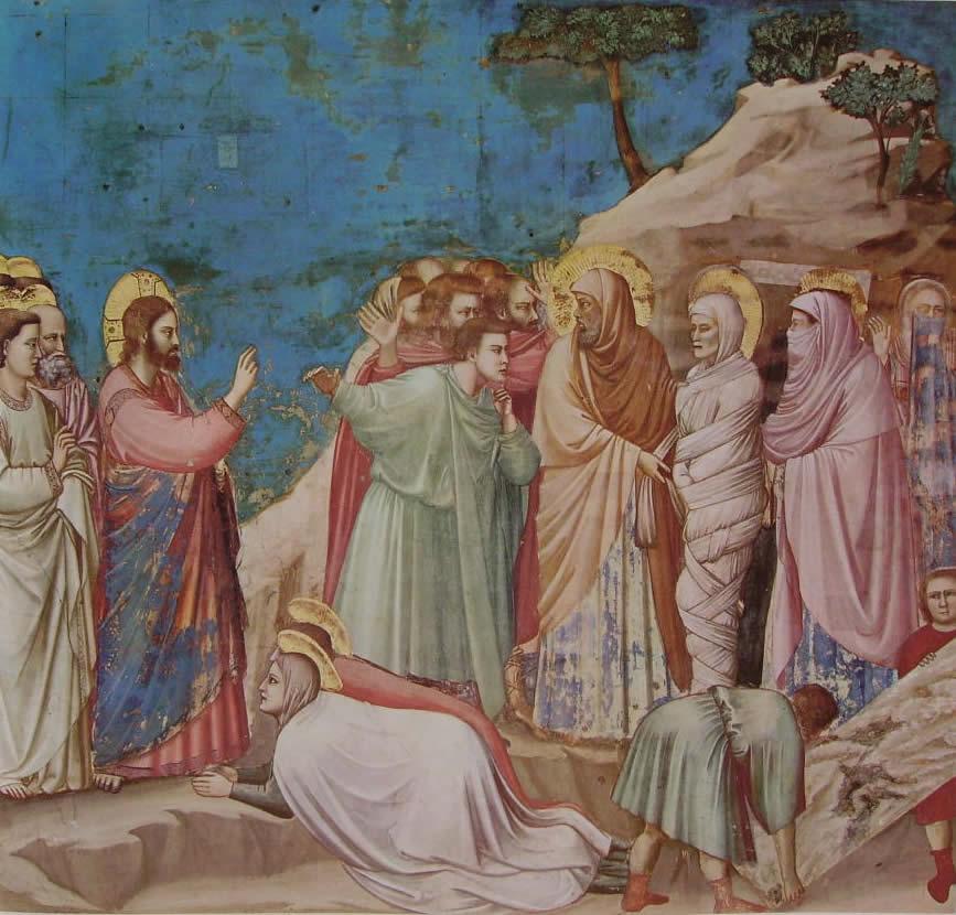 Giotto: La resurrezione di Lazzaro (Scrovegni)