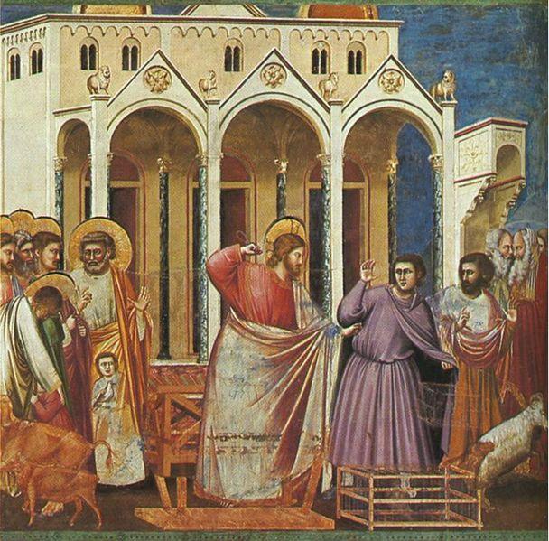 Giotto: La scacciata dei mercanti dal tempio (Scrovegni)