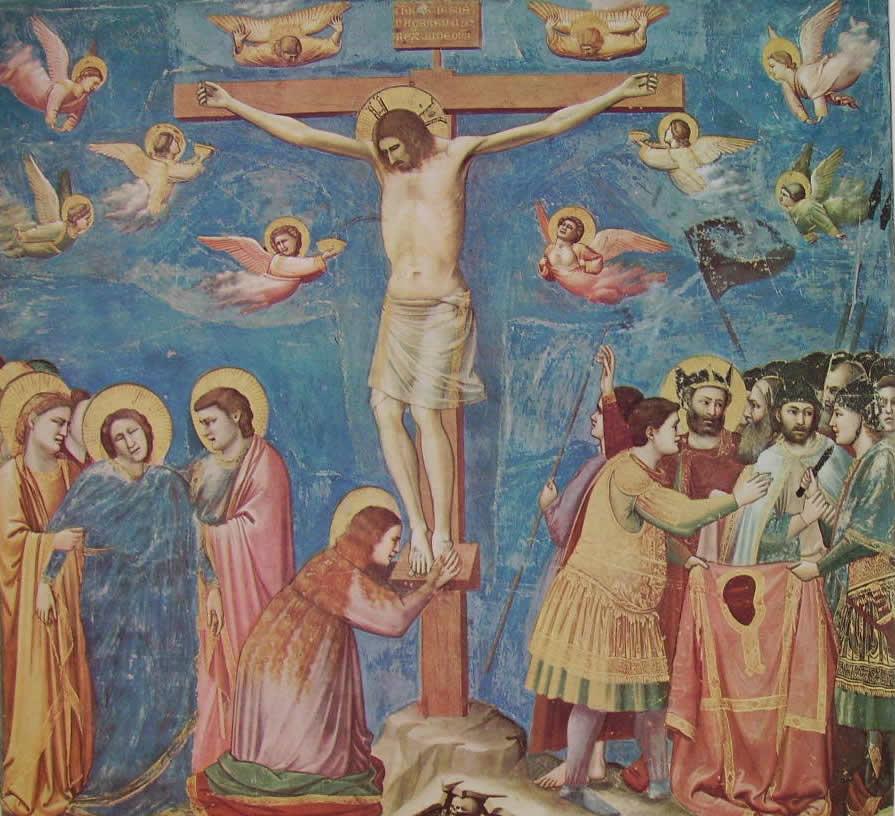 Giotto: La crocifissione (Scrovegni), Padova.