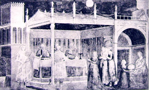 Giotto: Il festino di Erode in bianco e nero