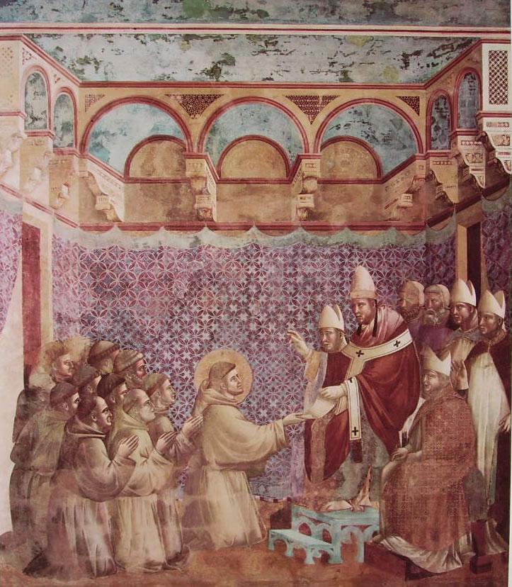 Giotto: La conferma della regola (Chiesa Superiore di San Francesco)