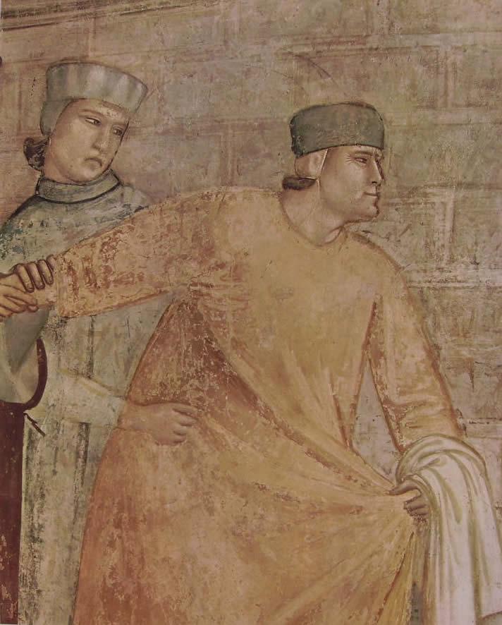 """""""La rinuncia degli averi"""" particolare di un assieme di cm. 280 x 450, Cappella Bardi, Santa Croce, Firenze"""