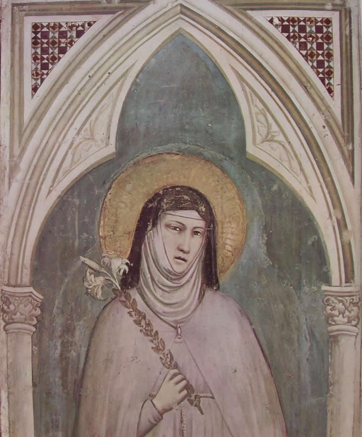 Giotto: Cappella bardi - Santa Chiara