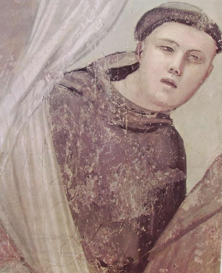 Giotto: Cappella Bardi - L'apparizione a fra Agostino e al vescovo