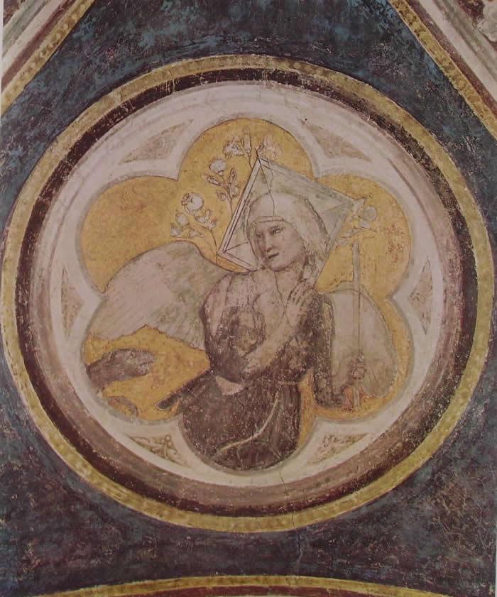 Giotto: Cappella Bardi - Allegoria della castità
