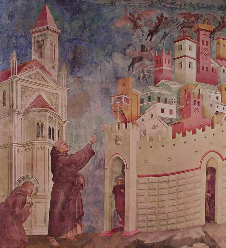 Giotto: La scacciata dei diavoli da Arezzo (Assisi)