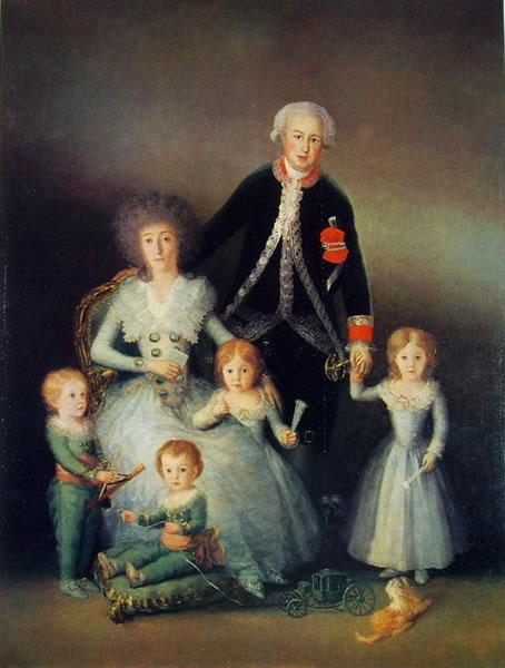Goya - Ritratto dei duchi di Osuna con i figli