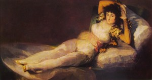 Francisco Goya: La Maja vestita 95 x 190, Madrid Prado.