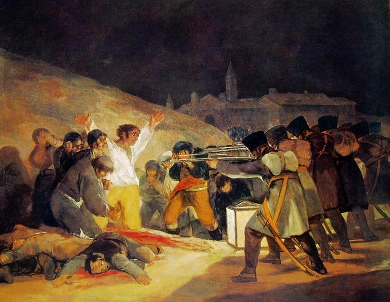 Goya: Il 3 Maggio 1808 - Fucilazione alla Montana del principe Pio