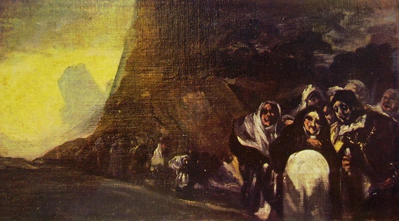 Goya - Pellegrinaggio, dalle Pitture nere della quinta del sordo