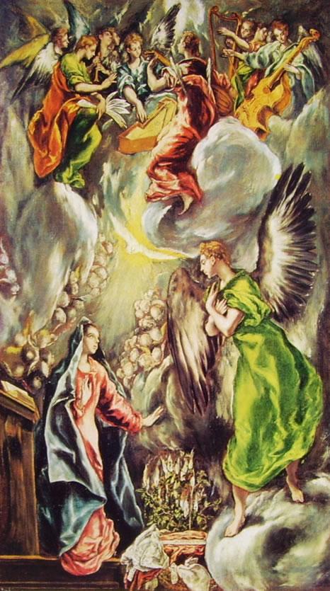 El Greco: L'Annunciazione (riproduzione autografa)