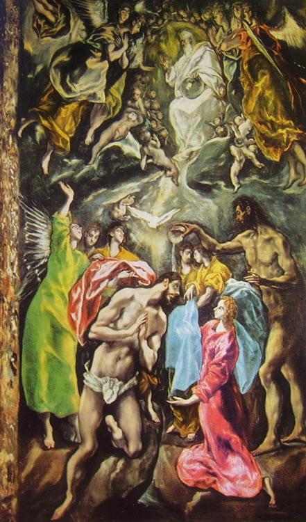 El Greco: Il battesimo di Cristo (Toledo)
