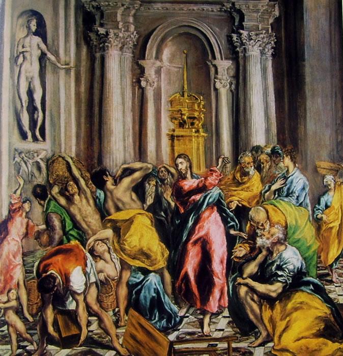 El Greco: La cacciata dei mercanti dal tempio (Madrid)