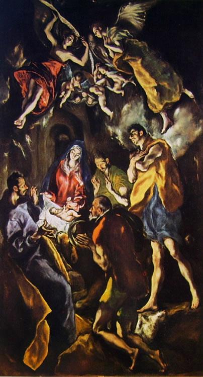 El Greco: L'adorazione dei pastori (Museo del Prado)