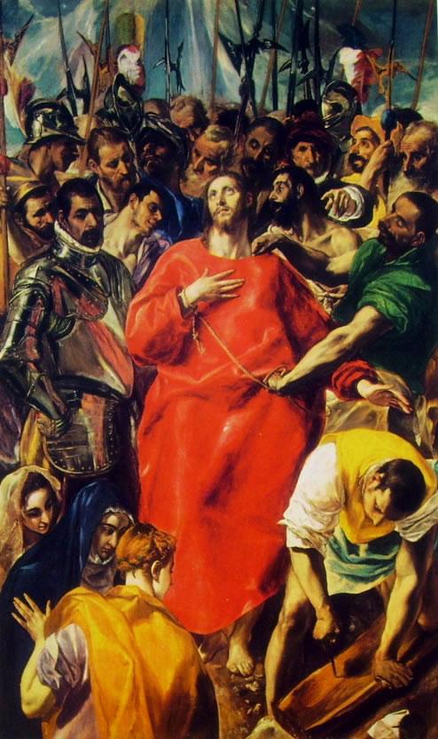 El Greco: L'Espolio (Cattedrale di Toledo), cm. 285 x 173,
